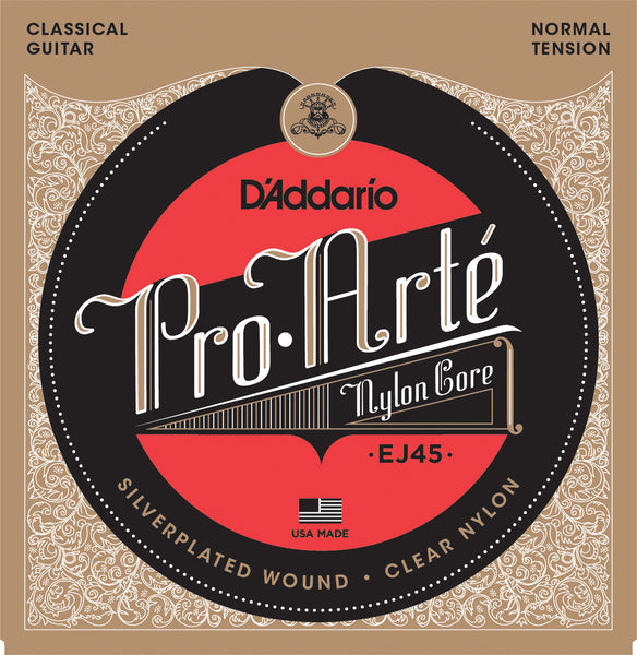 D'Addario EJ45 Pro-Arté© Nylon, Normal Tension Strings