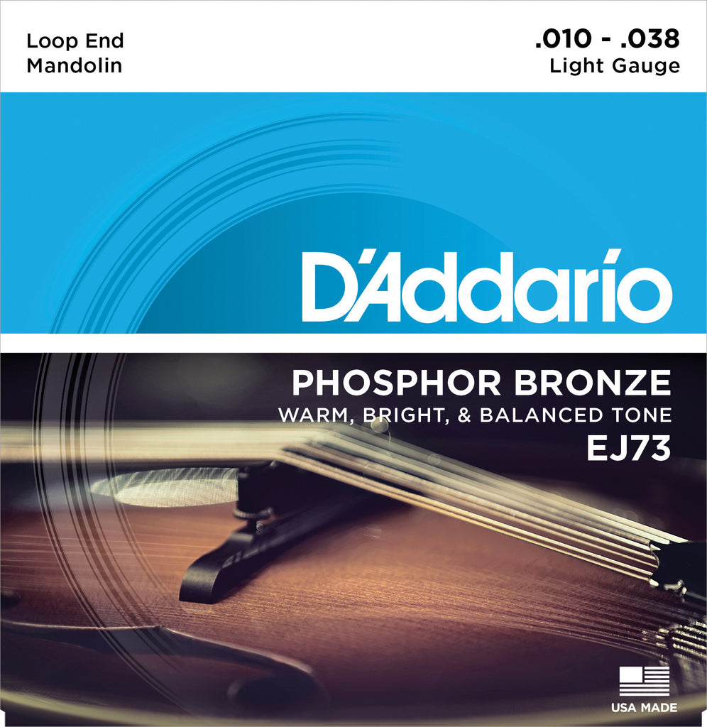D'Addario EJ73 Phosphor Bronze Light Mandolin Strings