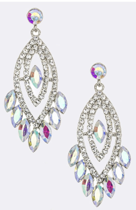 Crystal AB statement earring