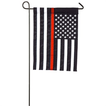 First responders Thin Red fireman Line Garden Applique Flag