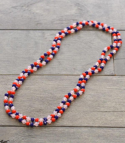 "60"" Glass Beads Long Necklace"