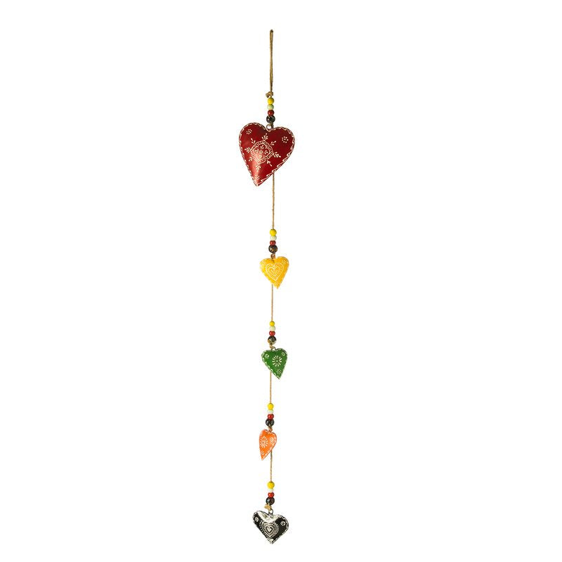 Multicolor Harrill Heart Wind Chime