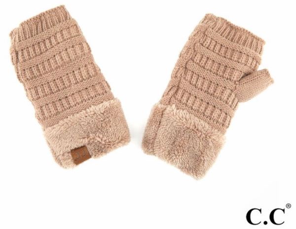 Sterling fingerless CC beanie gloves