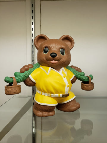 Ceramic bear with branch