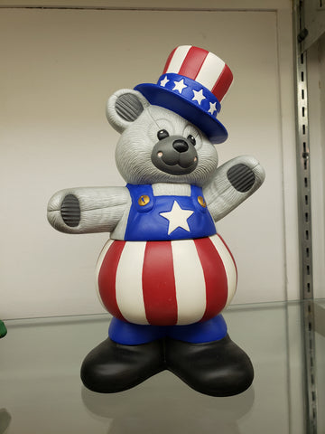 Ceramic flag bear jar
