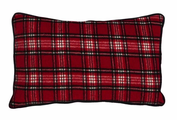 Red truck lumbar pillow