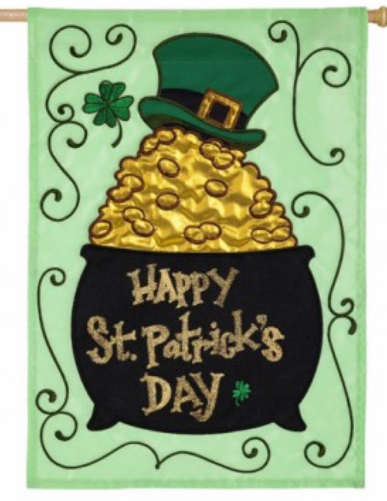 Pot O Gold St Patrick House Flag