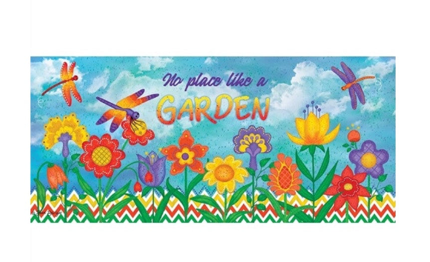 No place like a garden swith mat