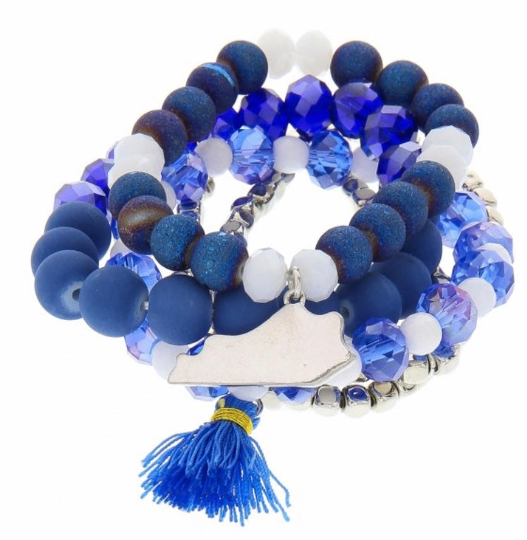 Kentucky Wildcats game day bead bracelet