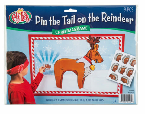 Elf pin the tail on the reindeer game