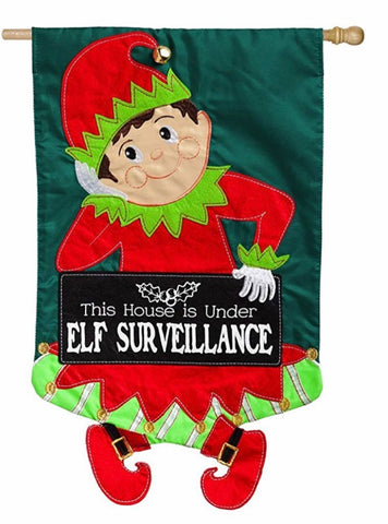 Elf Evergreen house flag