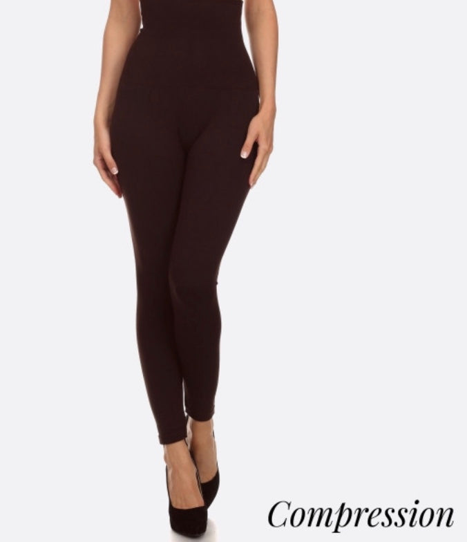 Coffee high waisted compression legging
