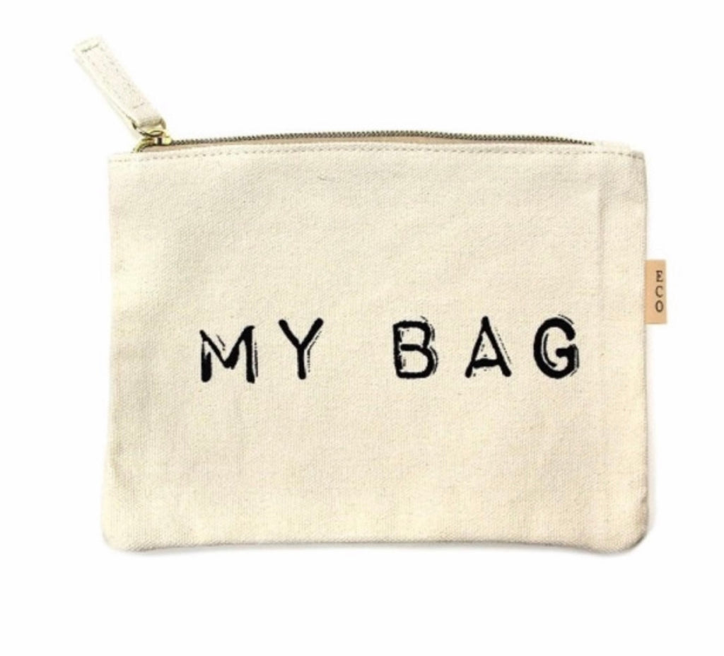 My bag natural makeup pouch
