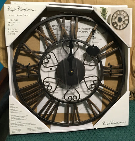 "13"" Copper Indoor Outdoor Clock"