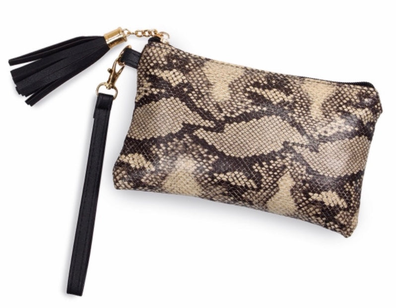 Snakeskin makeup carry bag