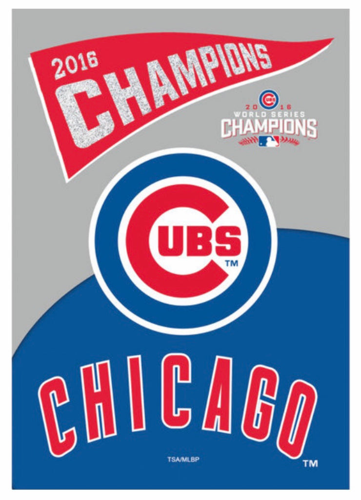 Chicago Cubs 2016 Champions vintage house flag