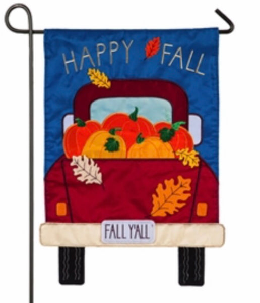 Fall Y'all Pickup Truck Garden Flag