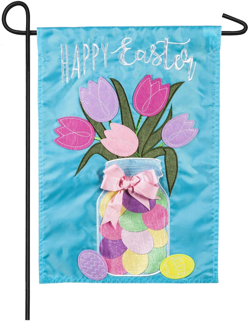 Easter mason jar garden flag