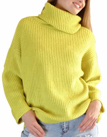 Lime turtleneck sweater