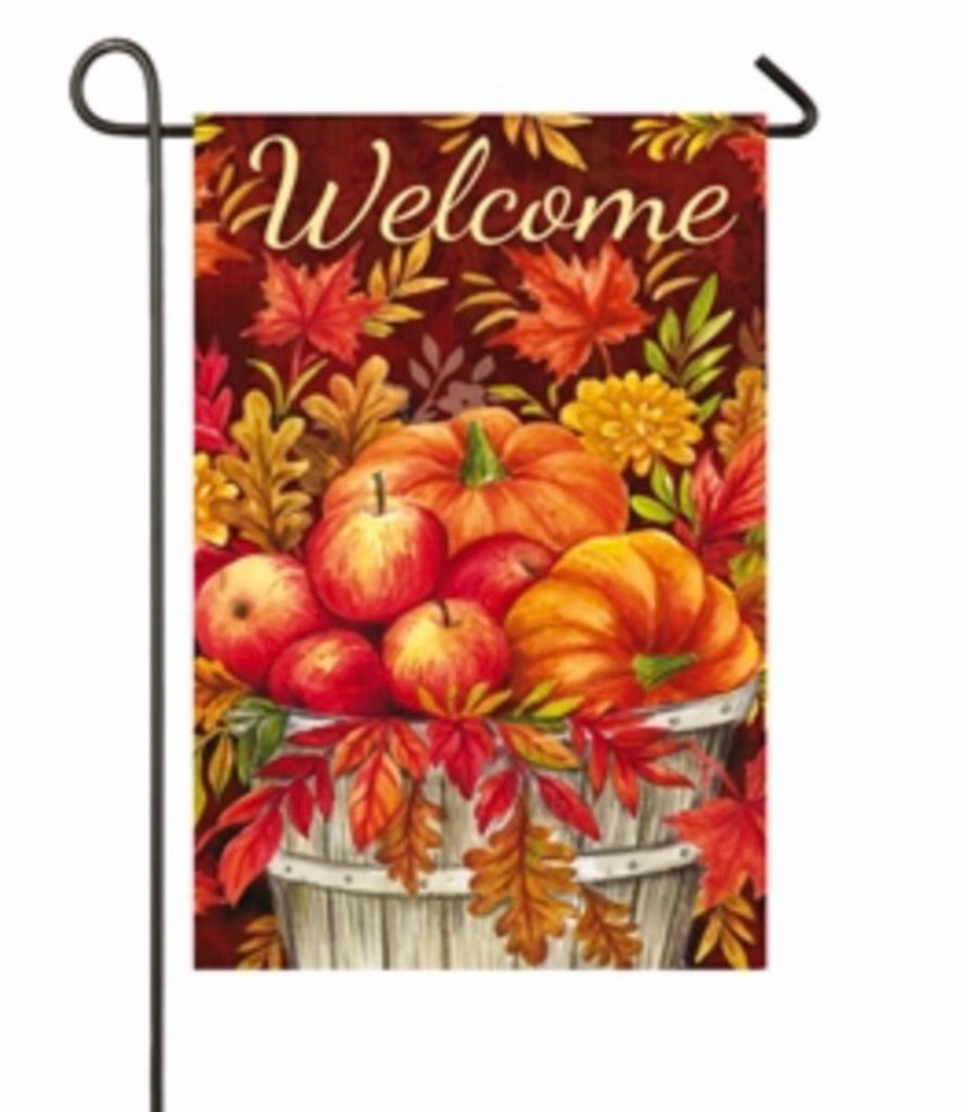 Apples and pumpkins garden flag
