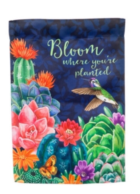 Bloom Where you are planted house flag