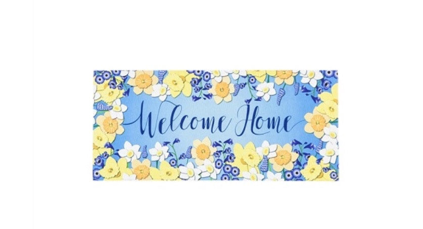 Garden beauty welcome switch mat