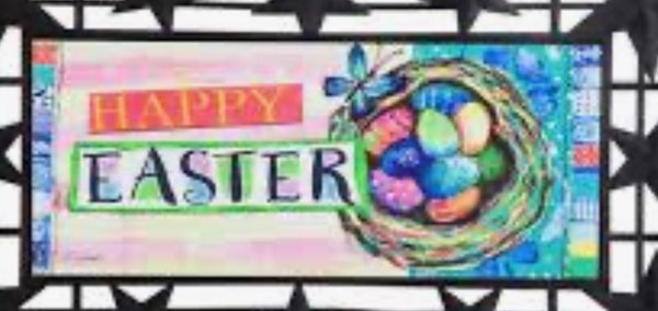Easter happy life nest switch mat