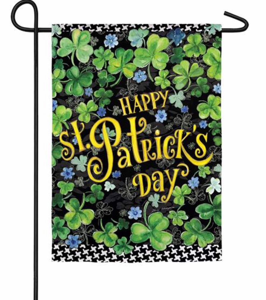Happy St Patrick's garden flag