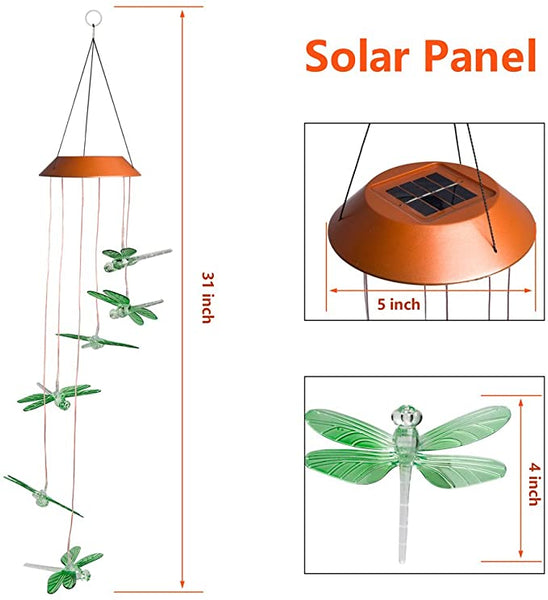Dragonfly Solar Mobile Windchime