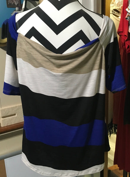 Blue taupe ivory black off shoulder PLUS Last one 2xl