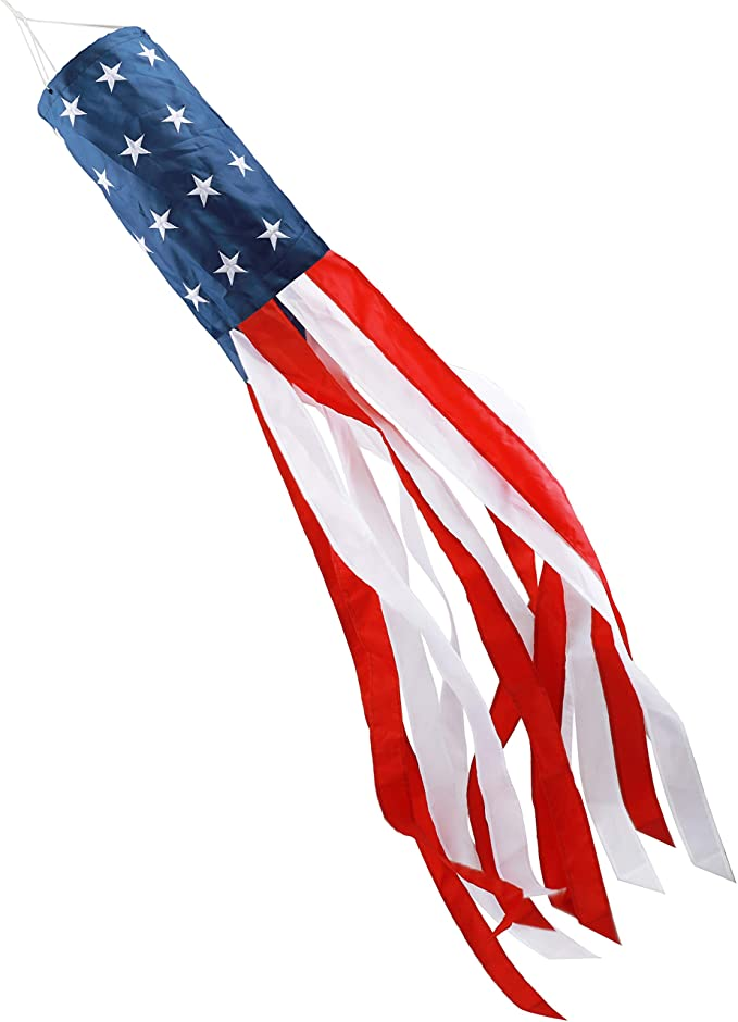 Stars and Stripes American windsock flag