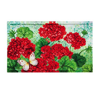 Red Geranium embossed mat