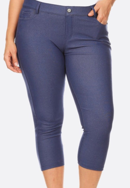 Capri jeggings Blue Plus