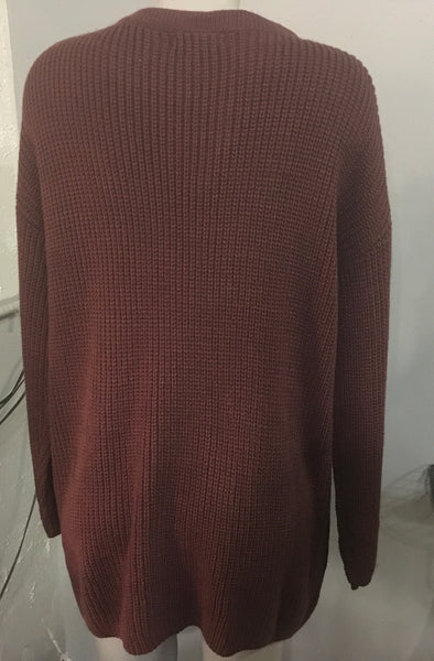 Raisin lace up sweater Plus 1xl only