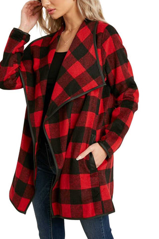 Red BUFFALO PLAID JACKET