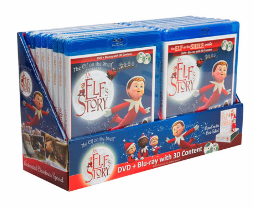 Elf on the shelf movie dvd + blue ray combo