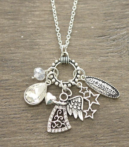 Angel Blessed Charm Necklace