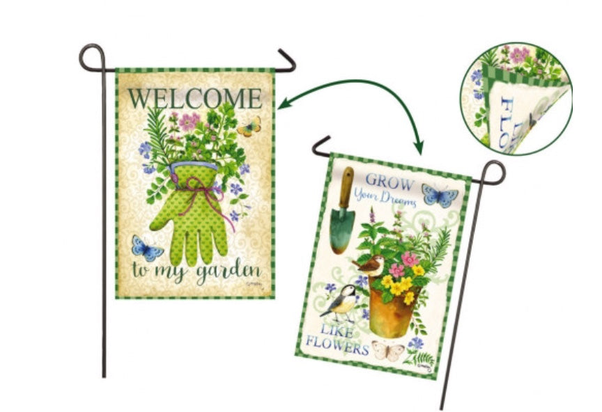 Herbs 2 sided garden flag
