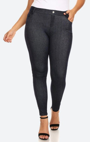 Navy faded X-Large jegging Plus