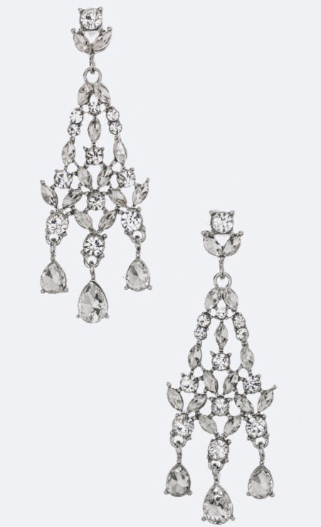 Rhinestone Mix crystal chandelier earrings