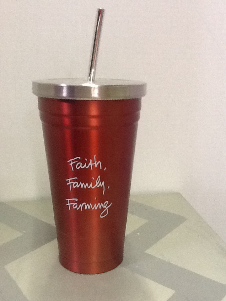 Faith Family Farming Stainless steel travel cup