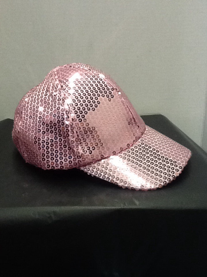 Light pink sequin ball cap