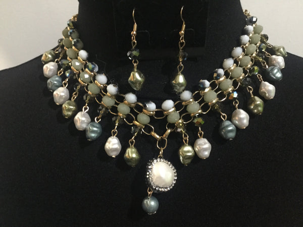 Necklace set multi beads