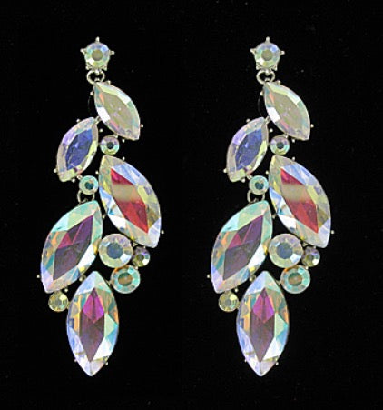 AB crystal multi shape earring