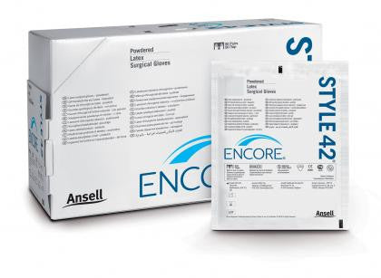 ANSELL ENCORE STYLE 42 POWDERED STERILE SURGICAL GLOVES