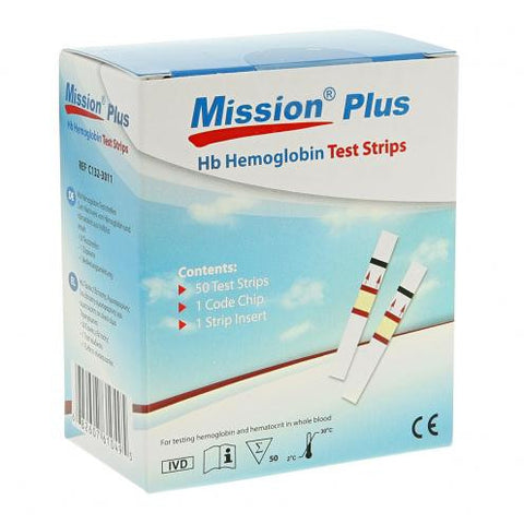 ACON MISSION PLUS HB TEST STRIPS
