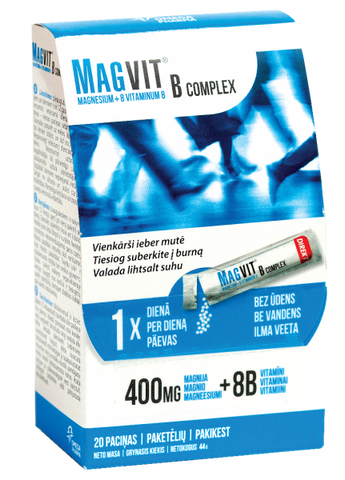 MAGVIT B COMPLEX 400MG + 8B SUPPLEMENT