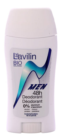 LAVILIN BIO BALANCE 48H NATURAL DEODORANT STICK FOR MEN
