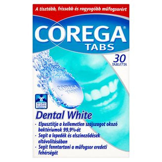 COREGA TABS DENTAL WHITE TABLETS