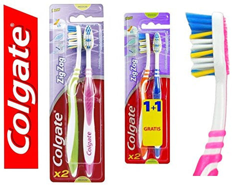 COLGATE ZIG ZAG MEDIUM TOOTHBRUSH WITH A FLEXIBLE NECK